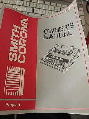 Smith Corona Electronic Typewriter SD 680 Owners Manual