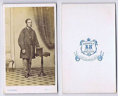 CDV Gentleman With Top Hat Carte De Visite Photograph By Rhodes Of Nantwich