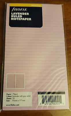 Filofax Lavender Ruled Personal Size Notepaper - 133015 - Organizer/Planner