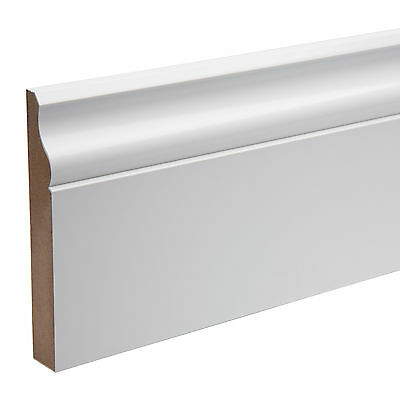 Pre Finished Ogee Skirting Boards (KOTA) MDF 119mm x18mm x 4.4 mtr Free P&P