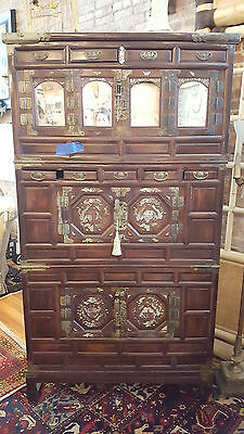 Gorgeous Mid 19th Century Rosewood Cabinet with Mother of Pearl Inlay