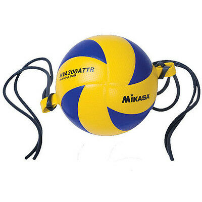 Mikasa MVA300ATTR Dimpled Micro-Fiber Cover Attack Trainer Volleyball w/Tethers