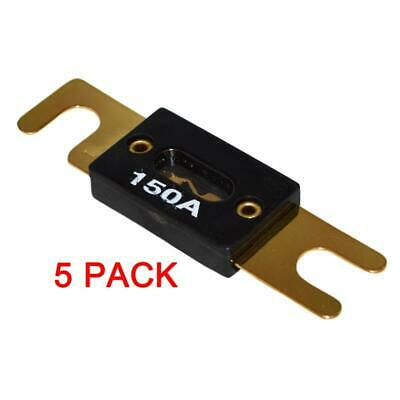 5 x High Quality Gold Plated 150 Amp 150A Car Audio ANL Fuse (5/pack) New