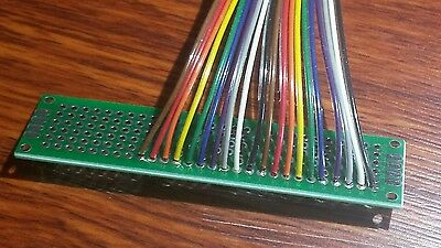 28 Gauge AWG Rainbow Multi-color Ribbon Cable by the foot - 20 conductor