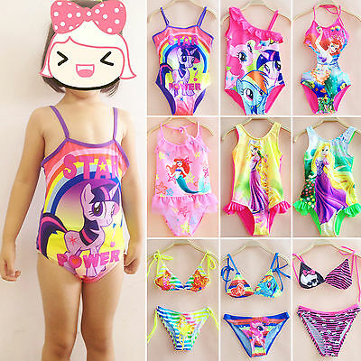 Girl Swimsuit Bathing Suit Toddler Kids One Piece Bikini Set Swimwear Costume