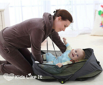 Jollybaby BABY Infant PORTABLE TRAVEL COT EASY CARRY SLEEP Bed BASSINET NEW