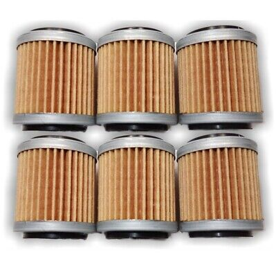 OIL FILTER SIX PACK FOR YAMAHA WR250F WR450F YZ250F YZ450F 2009 to 2011
