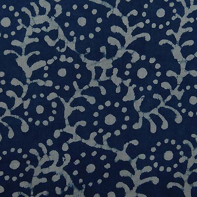 Cotton Voile Fabric Indian Hand Block Print Dressmaking Craft Sewing By The Yd