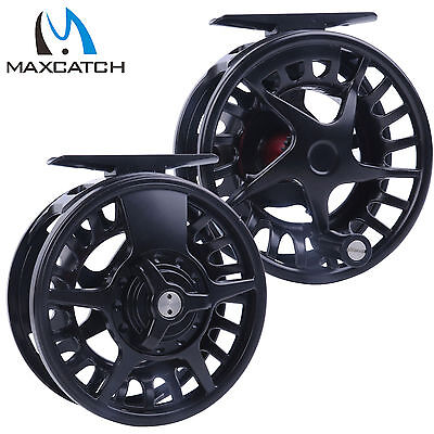 5/6/7/8 WT Best Die-casting Aluminum Black Fly Fishing Reel & Reel Bag