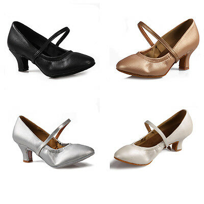 5003 Women Girl lady's Ballroom Tango Latin Dance Dancing Shoes heeled  4 color