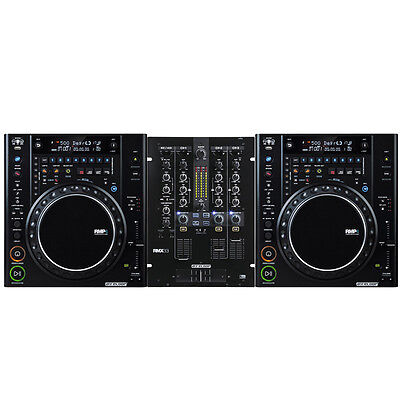 Reloop RMP4 DJ Package Bundle w/ 33i DJ Mixer & 2 x RMP4 CD Players