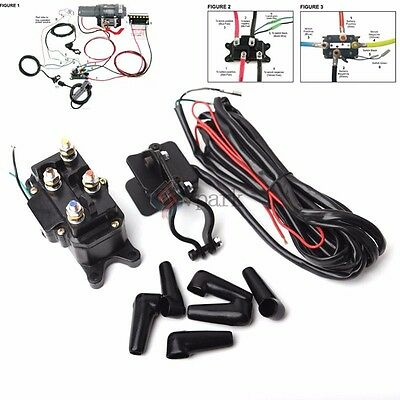 Hot 12V Solenoid Relay Contactor & Winch Rocker Thumb Switch COMBO for ATV UTV