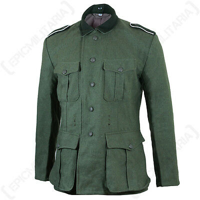 German Army M36 FIELD GREY WOOL TUNIC All Sizes - WW2 Repro Heer Uniform Jacket
