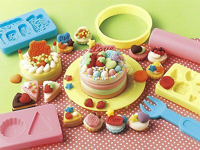 F/S Play Doh Cake Shop Mold Set Ships from Japan