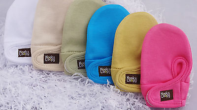 Hook & Loopy Soft Anti Scratch Mittens Mitts Gloves Boys & Girls with Velcro Tab