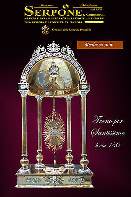 Tronetto Santissimo dorato ostensorio gilded most holy throne trône monstrance