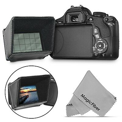 LCD Hood Screen Sun Shield Protector Shade for DSLR Cameras & Camcorders Cover