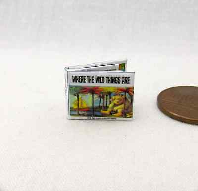 1:24 Scale WHERE THE WILD THINGS ARE Dollhouse Miniature Book Illustrated Book