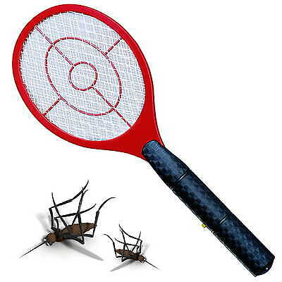 Powerful 2D Electronic Fly Swatter Zapper Mosquito Insect Bug Electric, RED