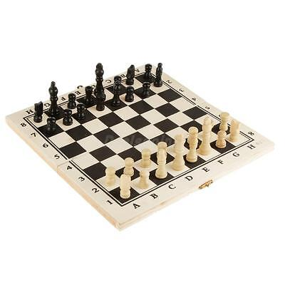 Standard Folding Travel Wooden Chessboard Set Pieces Classic Game