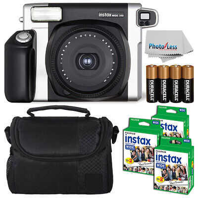 Fujifilm Fuji INSTAX Wide 300 Instant Film Camera +60 Films + More Top Value Kit