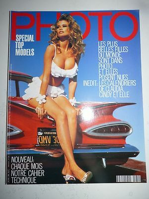 PHOTO FRENCH MAGAZINE #289 novembre 1991 special top models Claudia Schiffer