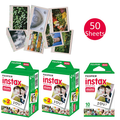 50 Sheets Fujifilm Instax Instant Film For Mini SP-1 2 90 8 9 25 7S 50S Cameras