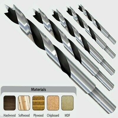 SPEED AUGER WOOD DRILL HEX SHANK STEEL BITS FOR SOFTWOOD PLYWOOD CHIPBOARD MDF