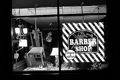 Wall Room Decor Art Vinyl Sticker Mural Decal Barber Shop Logo Sign Tools SA051