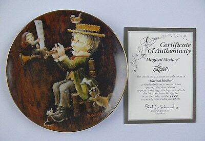Schmid Magical Medley Plate 3rd Edition #1777 of 10000 Certified In Box 1982