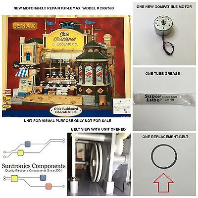 Lemax Olde Fashioned Chocolate Co- Replacement Parts-Motor/belt- Repair Kit