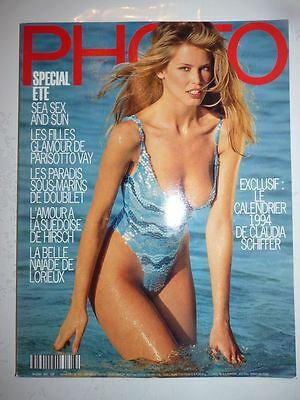 PHOTO FRENCH MAGAZINE #303 juillet aout 1993 special ete Claudia Schiffer