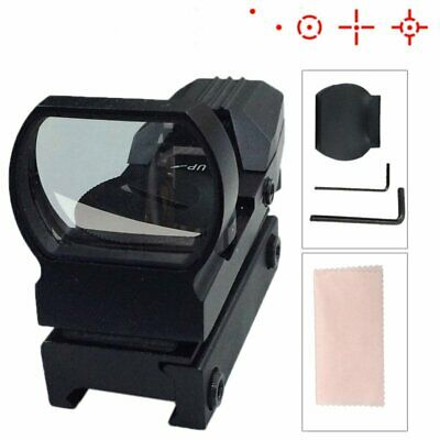 Tactical Holographic Projected Reflex Red Laser 4 Reticle 7 Mode Dot Sight Scope