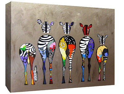 Abstract Zebra Oil Painting on Canvas Wall Art Picture Print - Various Sizes