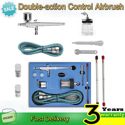 0.2mm/0.3mm /0.5mm Dual Action Air Brush Spray Gun Airbrush Kit Needle Art Set