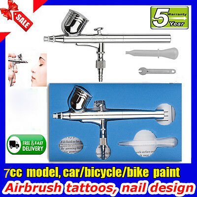 Dual Action Airbrush Kit  0.3mm Air Brush Spray Gun Paint Art Craft Compressor