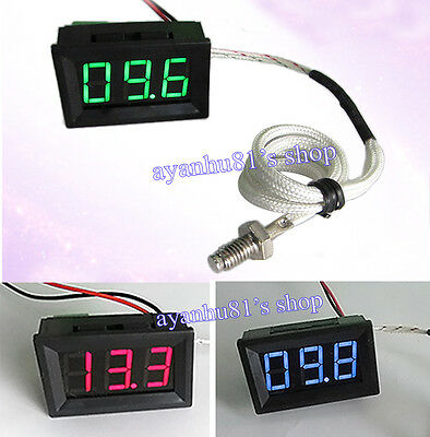 12V LED 0-999°C 0.56'' K Thermocouple Thermometer Temp Temperature Panel Meter