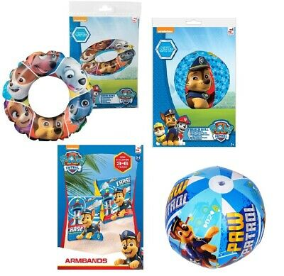PAW PATROL Inflatable Swim Ring Armbands Beach Ball Pool Chase Skye Marshall New