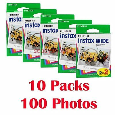 FujiFilm Instax Wide Film 10 Packs , 100 Fuji Instant Photos 210 200 300
