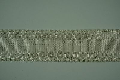"""SCALAMANDRE DESIGNER TRIM Sold by the yard Off White TAPE TRIM Ribbon 1 3/8"""" W"""