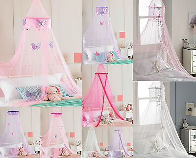 Bed Canopy Girls Bedroom Pretty Butterfly Faux Fur Sparkly Sequin - Purple Pink