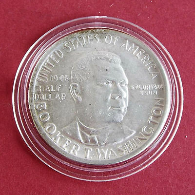 Usa 1946 Booker T Washington Silver Half Dollar