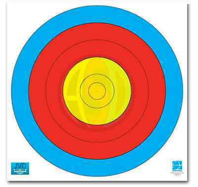 Official World Archery F.I.T.A Reinforced Paper target 5 Ring 60CM x 10