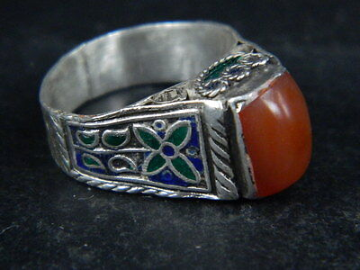 Antique  Silver ring With Stone 1900 AD    ##AZ18##