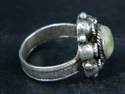 Ancient Silver ring With Stone 1900 AD ##AZ02##