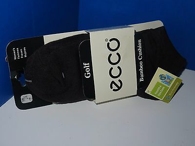 ECCO Bamboo Cushion Brown Womens Golf Ankle Socks Size 9-11