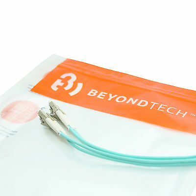 LC to SC OM4 Fiber Patch Cable Multimode Duplex - 3m (9ft) - Beyondtech