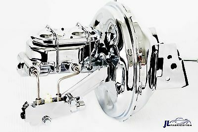 "70-81 Chevy Camaro Chrome 11"" Booster w/ Master Cylinder & Proportioning Valve"