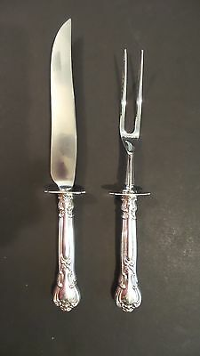 Antiques Melrose By Gorham Sterling Silver Roast Carving Set 2pc Hhws Furniture