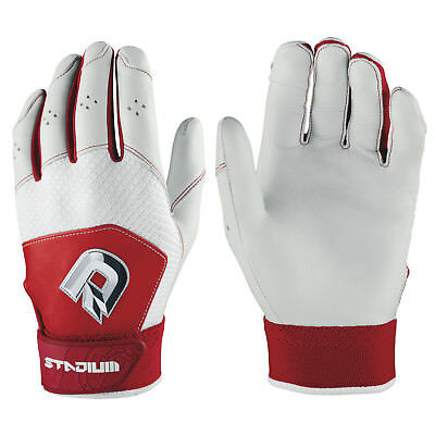 DeMarini Stadium II Baseball/Softball Batting Gloves - Scarlet/White - XXL